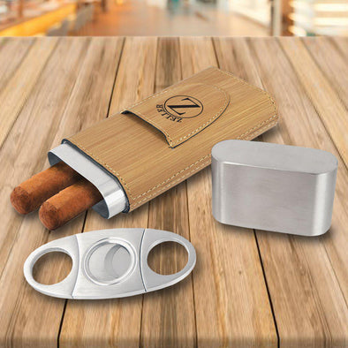 Personalized Cigar Holder - Bamboo -  - JDS