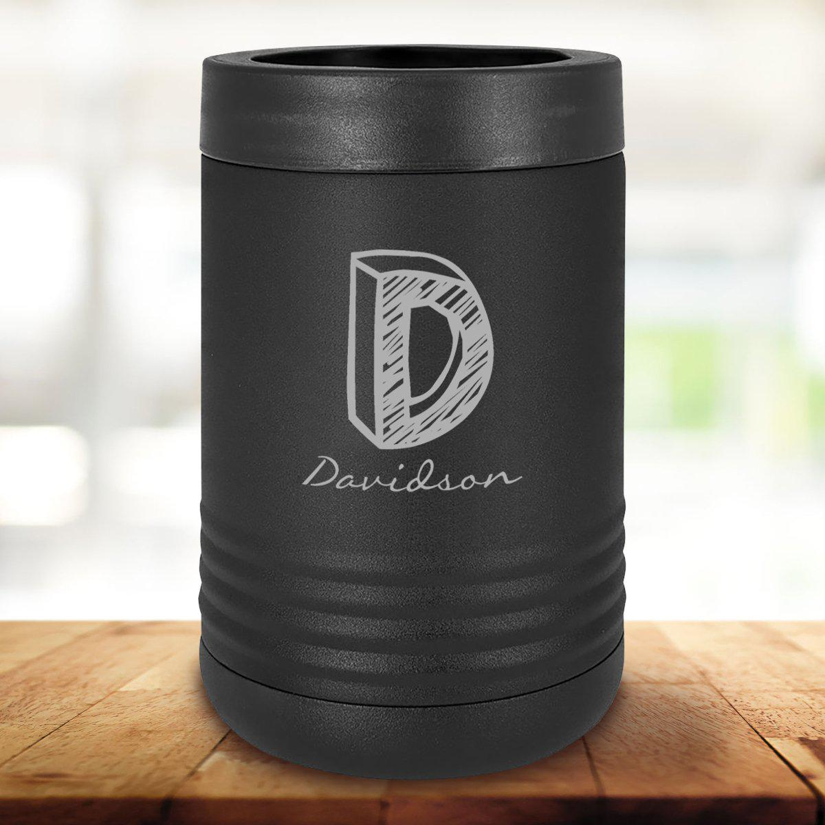 Personalized Black Can Cooler