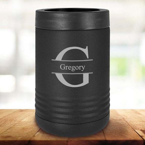 Personalized Black Can Coolers - Stamped - JDS