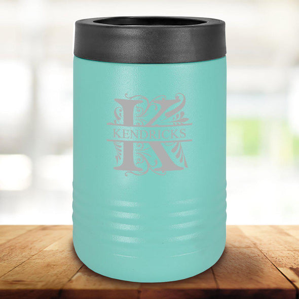 Personalized Mint Can Cooler - Filigree - JDS