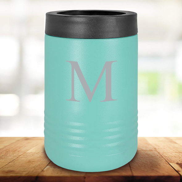 Personalized Mint Can Cooler - Single Initial - JDS