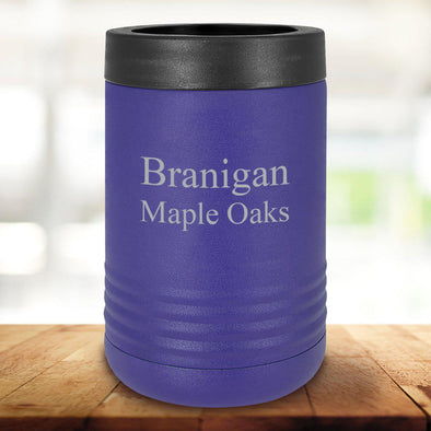 Personalized Purple Can Cooler - 2Lines - JDS