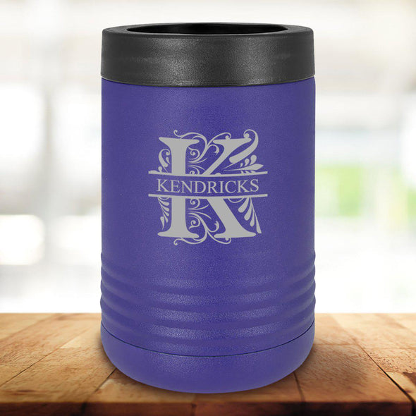 Personalized Purple Can Cooler - Filigree - JDS