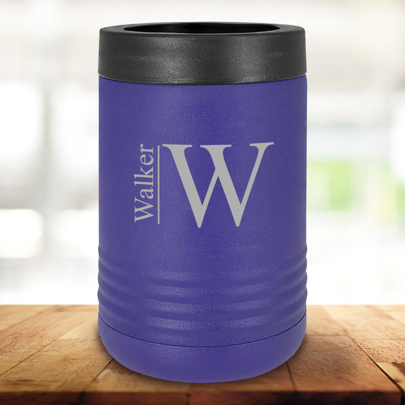 Personalized Purple Can Cooler - Modern - JDS