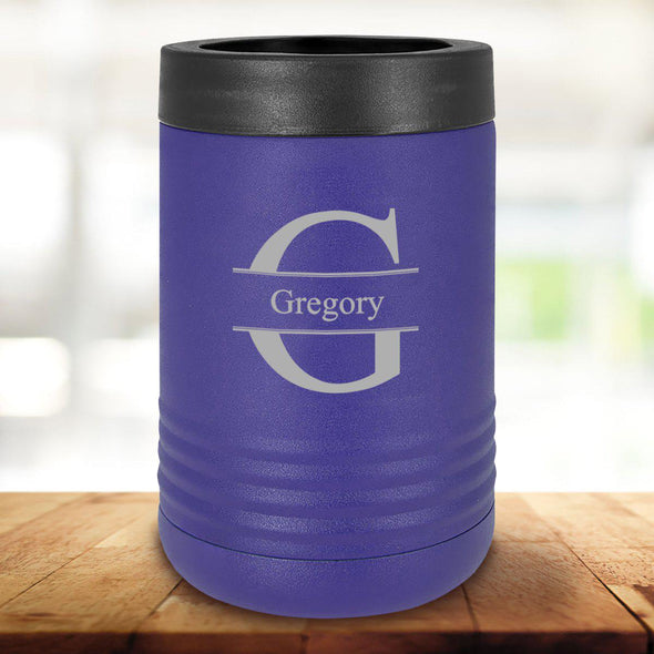 Personalized Purple Can Cooler - Stamped - JDS