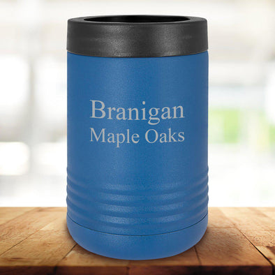 Personalized Royal Blue Can Cooler - 2Lines - JDS