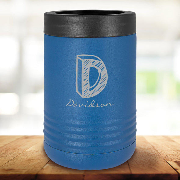 Personalized Royal Blue Can Cooler - Kate - JDS