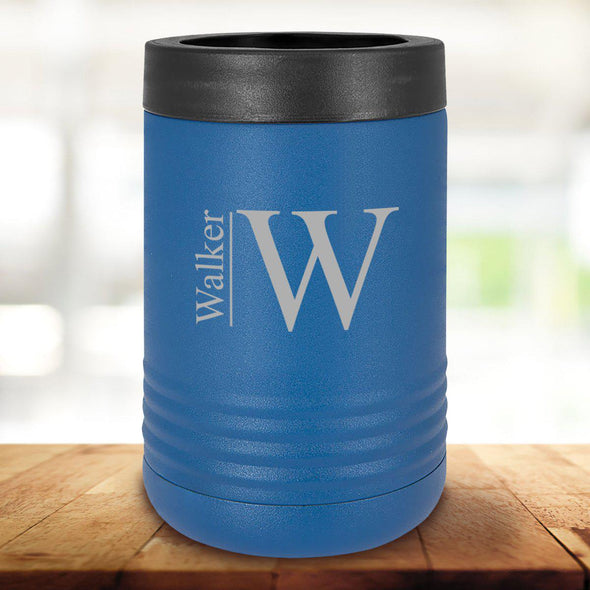 Personalized Royal Blue Can Cooler - Modern - JDS