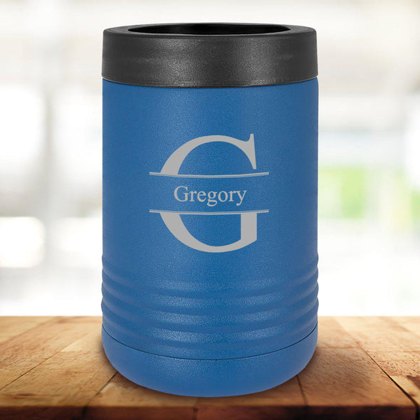 Personalized Royal Blue Can Cooler - Stamped - JDS