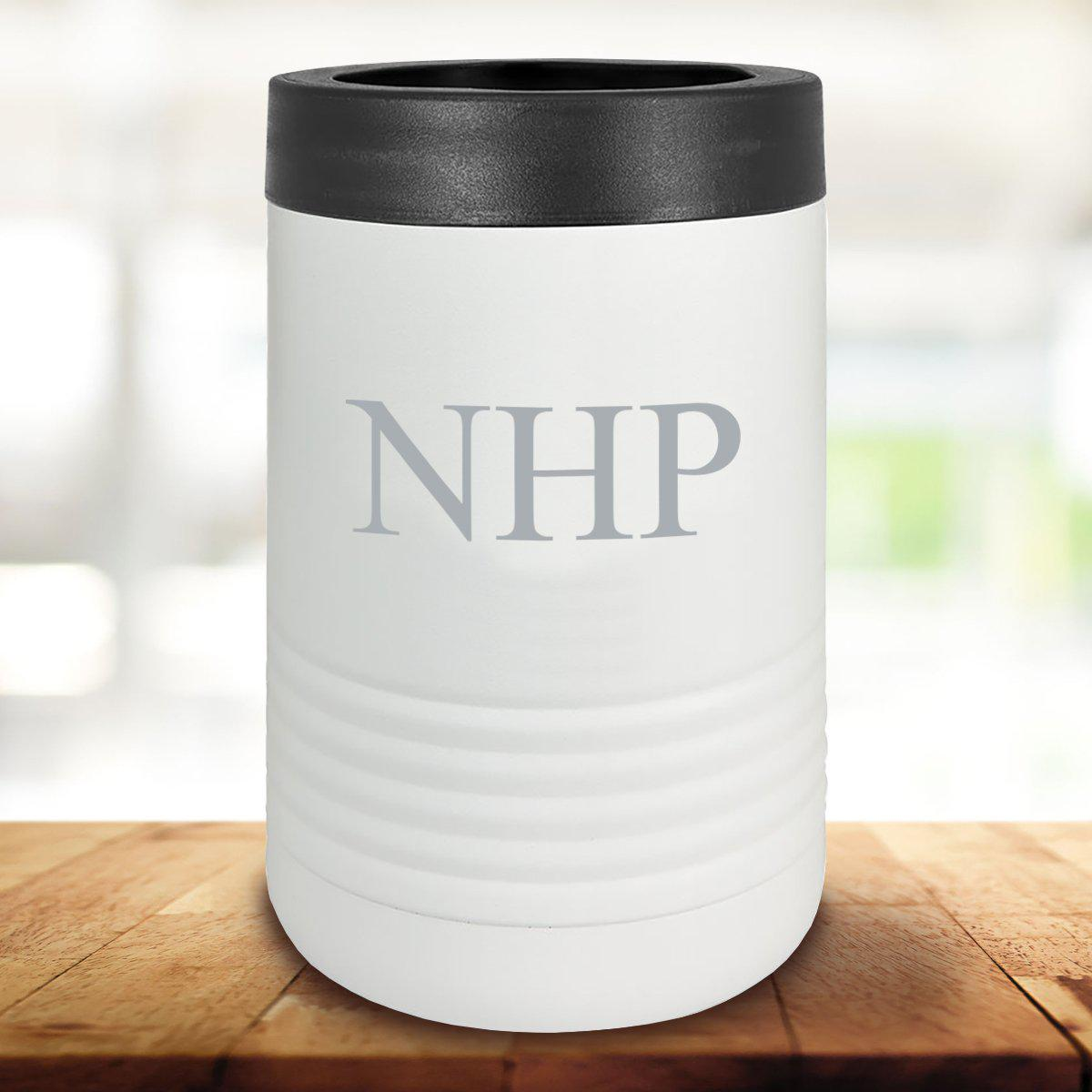 Personalized White Can Cooler