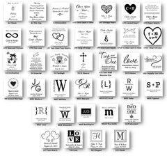 Personalized Premier Wedding Unity Candle w/Stand -