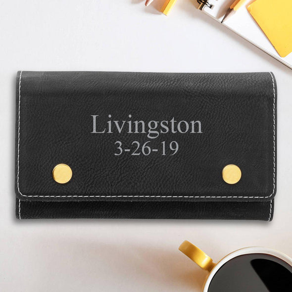 Personalized Card & Dice Set - Black - 2Lines - JDS