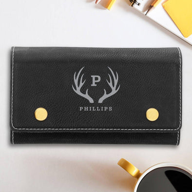 Personalized Card & Dice Set - Black - Antler - JDS
