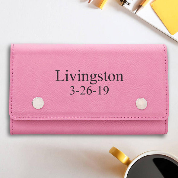 Personalized Card & Dice Set - Pink - 2Lines - JDS