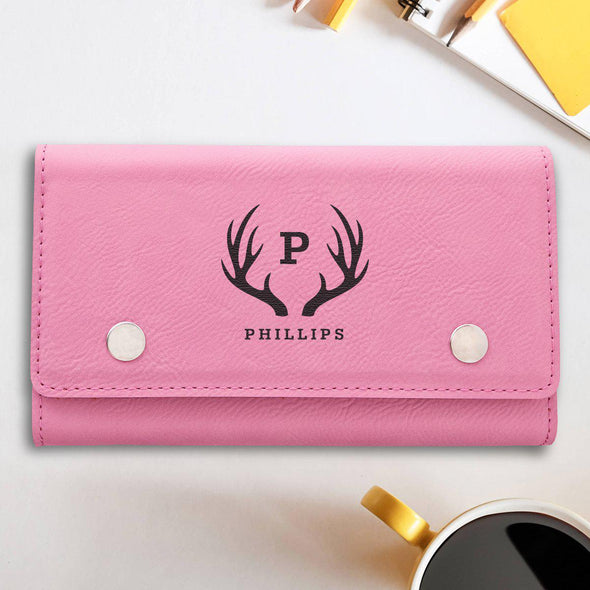 Personalized Card & Dice Set - Pink - Antler - JDS