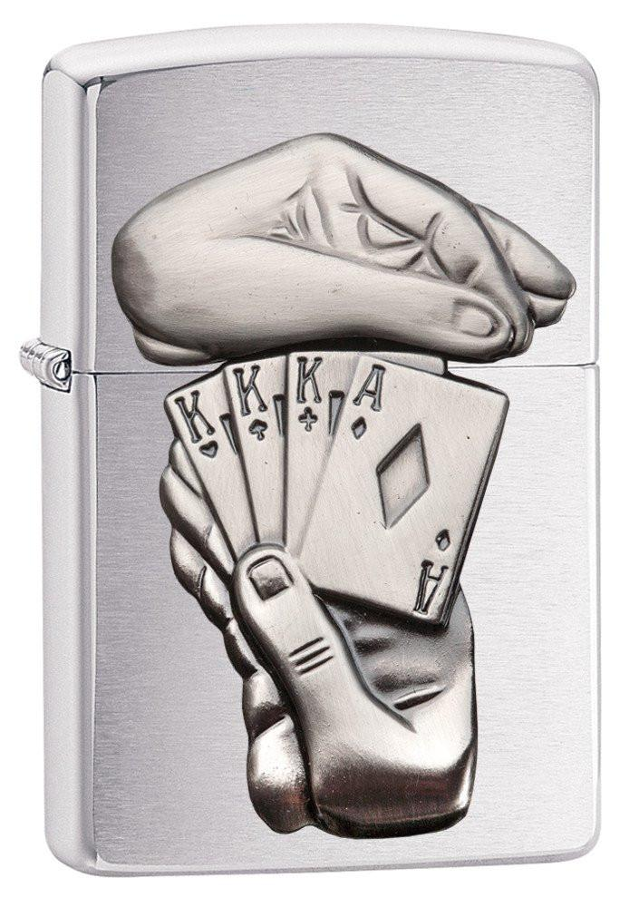 Personalized-Full-House-Emblem-Zippo-Lighter