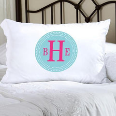 Personalized Felicity Chic Circles Pillow Case - CC6 - Home Decor - AGiftPersonalized
