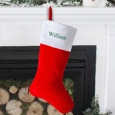 Personalized Cashmere Christmas Stocking - Red - JDS