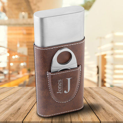 Personalized Cigar Holder - Rustic Brown -  - JDS