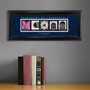 Personalized University Architectural Art - Big East College Art - Conneticut - Personalized Wall Art - AGiftPersonalized
