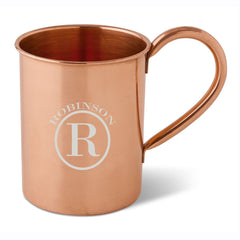Personalized 16 oz. Classic Copper Moscow Mule Mug - Circle