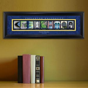 Personalized University Architectural Art - College Art - Creighton - JDS