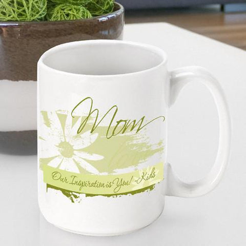Personalized  Mother's Day Coffee Mug - Daisy - Gifts for Mom - AGiftPersonalized