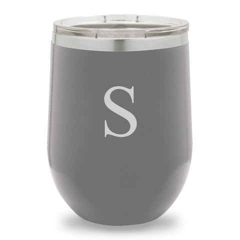 12 oz. Insulated Wine Tumbler - Dark Gray at AGiftPersonalized
