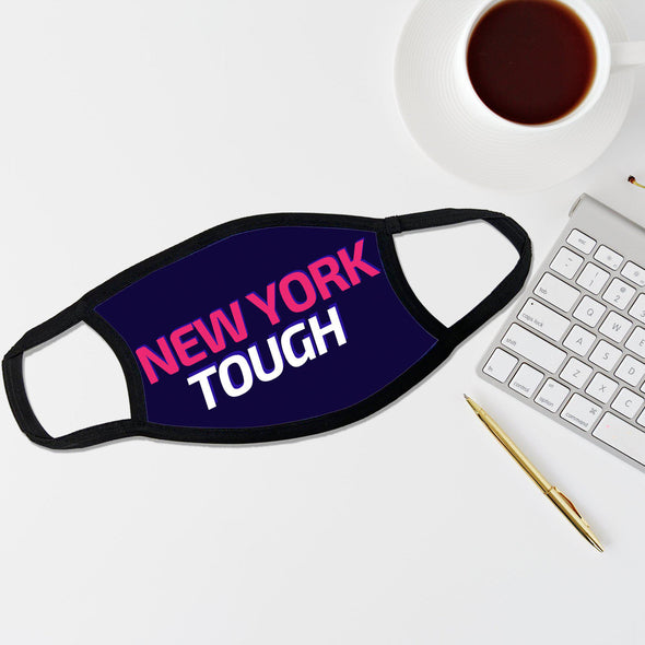 Reusable Face Coverings - New Yorker Collection - New York Tough Futuristic - Dark Blue - Qualtry