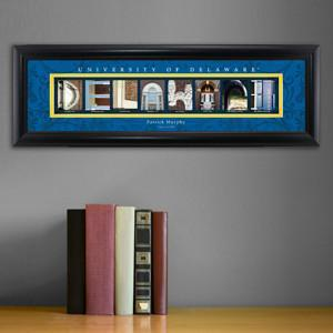 Personalized University Architectural Art - College Art - Delaware - JDS