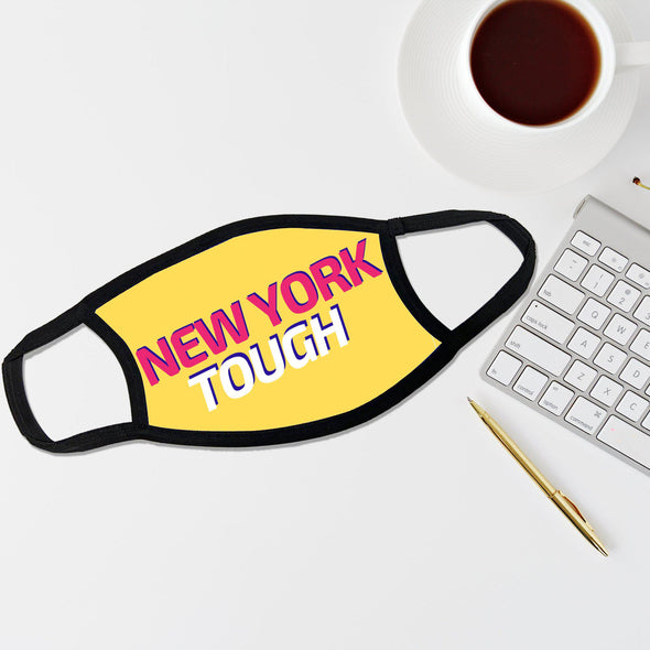 Reusable Face Coverings - New Yorker Collection - New York Tough Futuristic - Yellow - Qualtry