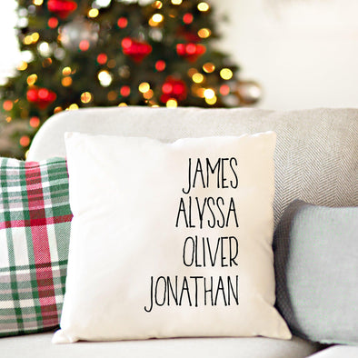 Personalized Family Names Throw Pillow Cover - Farmhouse -  - Qualtry
