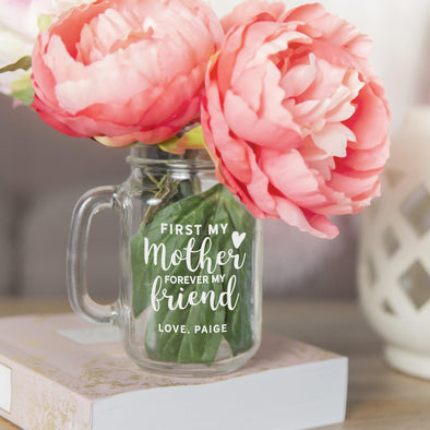 Personalized Mason Jar Vases for Mom -  - Qualtry