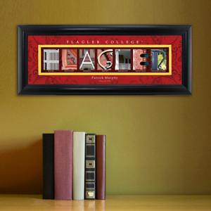 Personalized University Architectural Art - College Art - Flagler - JDS