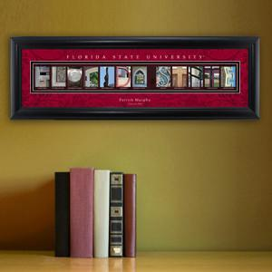 Personalized University Architectural Art -  Atlantic Coast Conference College Art - FloridaState - JDS