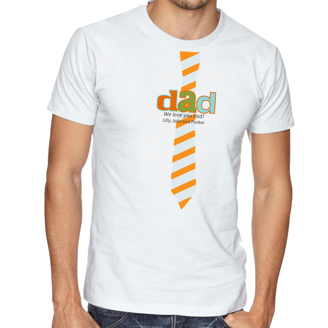 ff2ceb56 Personalized Father's Day T-Shirt