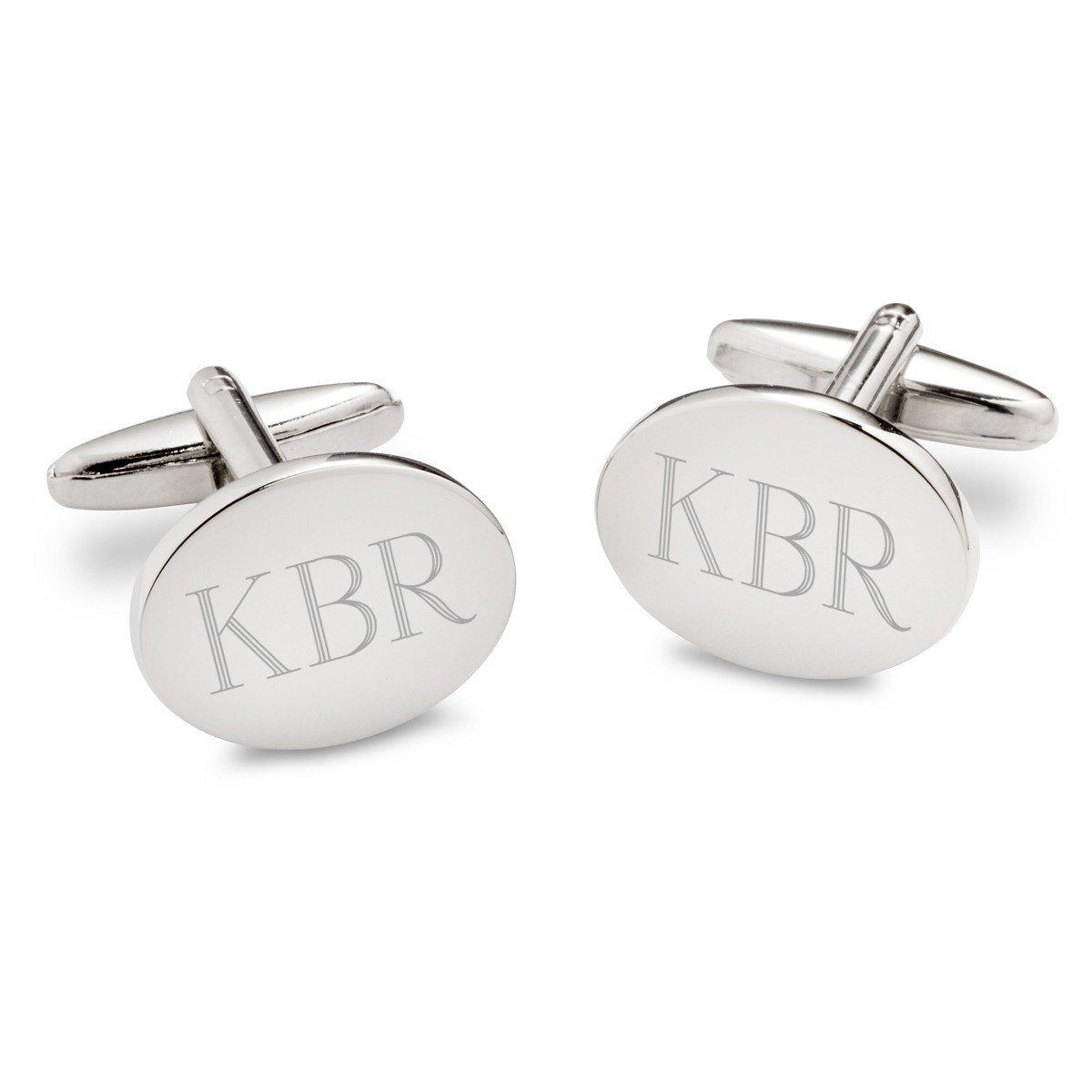 Personalized-Modern-Oval-Cufflinks