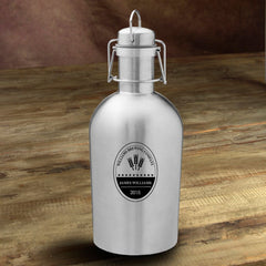 Personalized Stainless Steel Beer Growler - BrewingCo