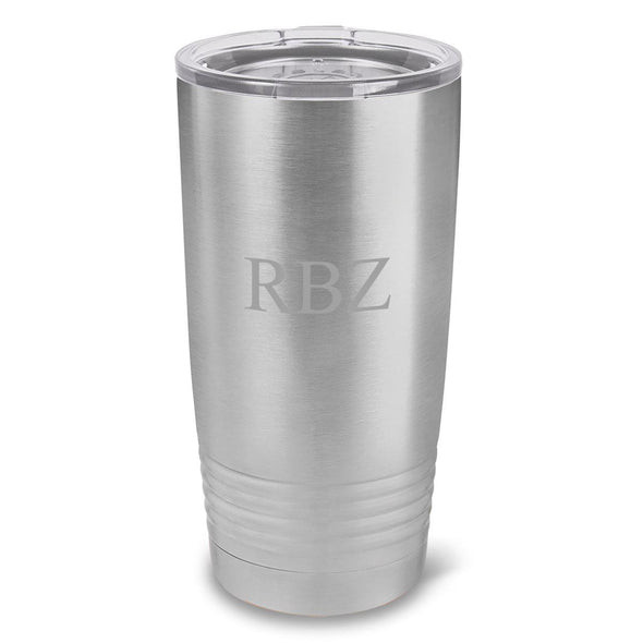 Personalized Húsavík 20 oz. Stainless Silver Double Wall Insulated Tumbler - All - 3Initials - JDS