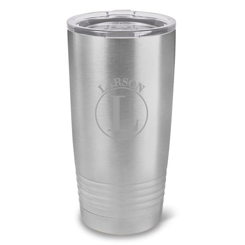 Personalized Húsavík 20 oz. Stainless Silver Double Wall Insulated Tumbler - All - Circle