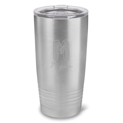 Personalized Húsavík 20 oz. Stainless Silver Double Wall Insulated Tumbler - All - Kate