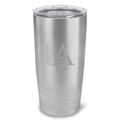 Personalized Húsavík 20 oz. Stainless Silver Double Wall Insulated Tumbler - All - Modern
