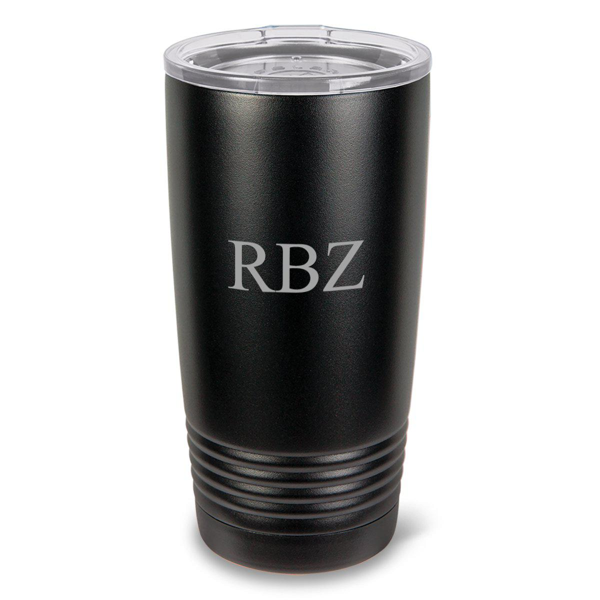 Monogrammed 20oz. Black Matte Double Wall Insulated Tumbler - All