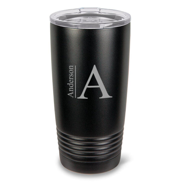Monogrammed 20oz. Black Matte Double Wall Insulated Tumbler - All - Modern - JDS