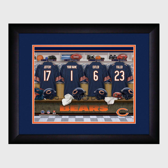 Personalized NFL Locker Sign w/Matted Frame - Bears -  - JDS