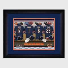Personalized NFL Locker Sign w/Matted Frame - Bears -  - Professional Sports Gifts - AGiftPersonalized