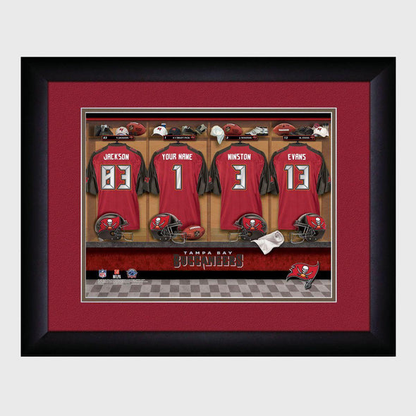 Personalized NFL Locker Sign w/Matted Frame - Buccaneers -  - JDS