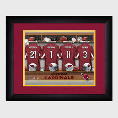 Personalized NFL Locker Sign w/Matted Frame - Cardinals -