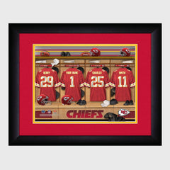 Personalized NFL Locker Sign w/Matted Frame - Chiefs