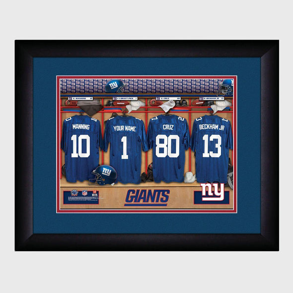Personalized NFL Locker Sign w/Matted Frame -Giants -  - JDS